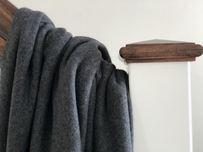 Bio Fleece Baumwolle anthrazit meliert