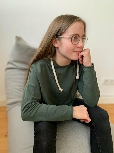 Bio Kuschelsweat skandi tannengrün