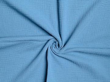 Bio Musselin kaltes rauch-blau