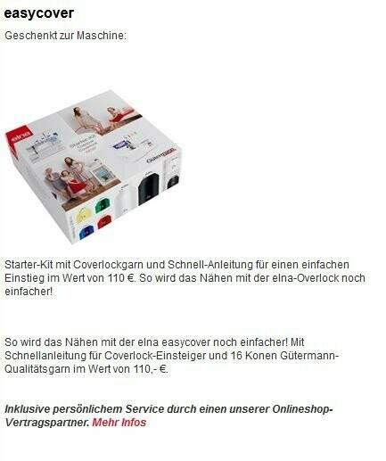 Elna Easy Cover + 25€Gutschein
