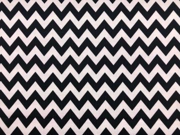 Bio Jersey chevron schwarz weiß