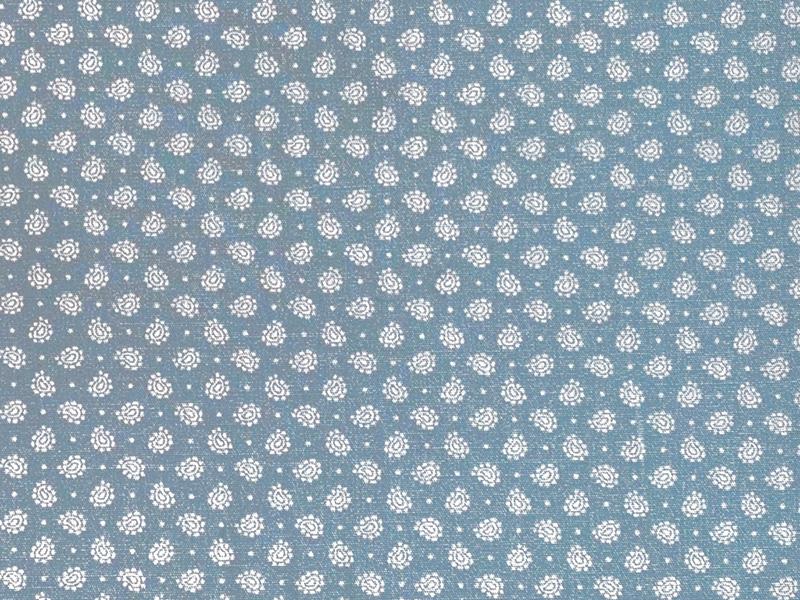Baumwolle Bio Popeline Hemd und Blusenstoff hell blau/grau