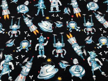 Bio French Terry Roboter dunkelblau