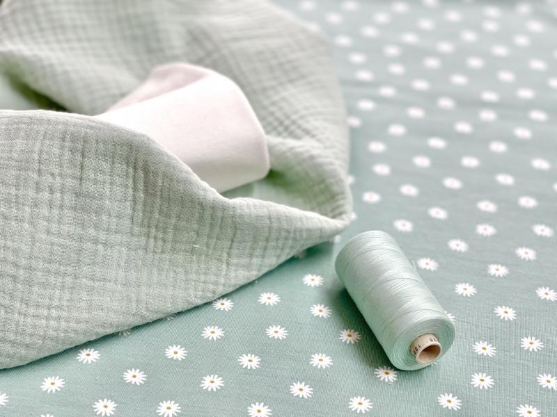 Bio Jersey Gänseblümchen mint