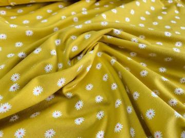 Bio Jersey Gänseblümchen gelb