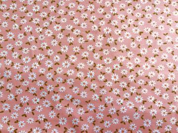 Bio Jersey Gänseblümchen mit Blätter rosa