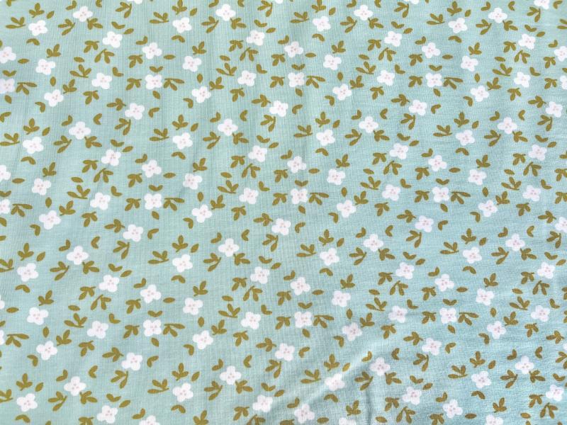 Bio Jersey eisblau Blume