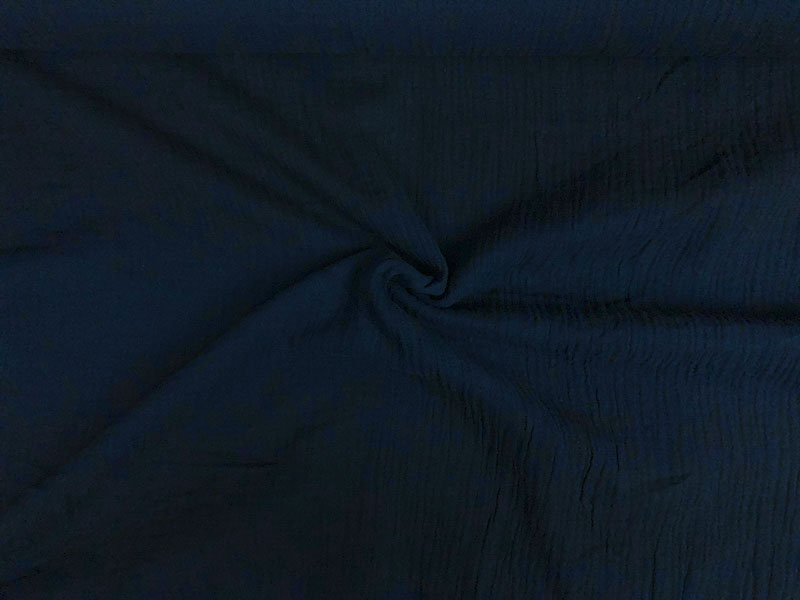 Bio Musselin marine blau