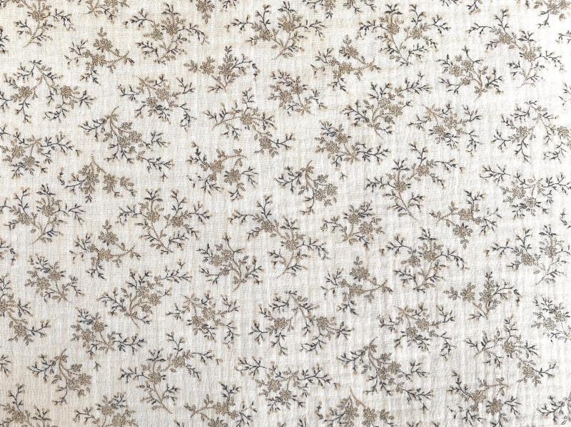 Bio Musselin zarte vintage Blüten