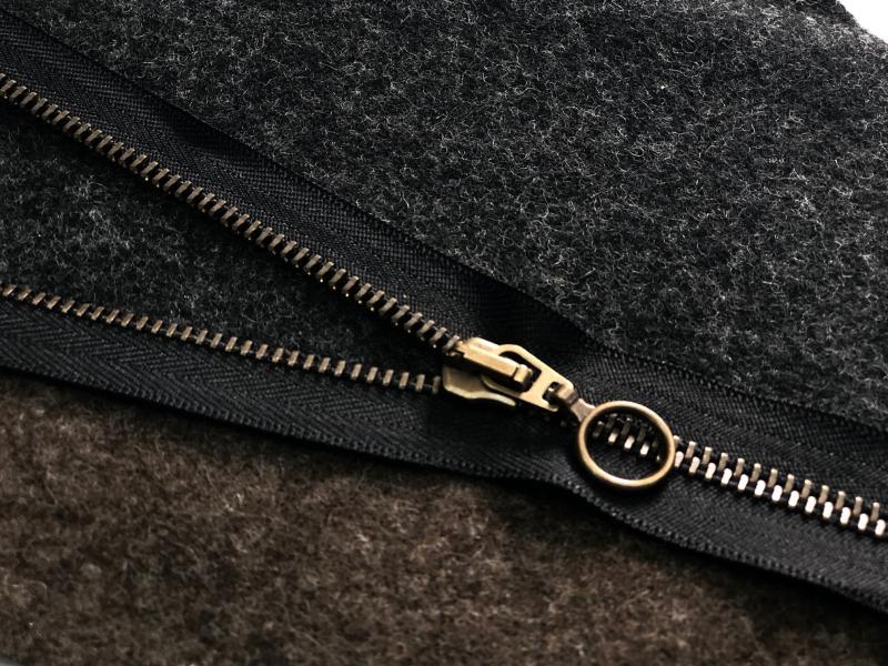 Reißverschluss schwarz teilbar